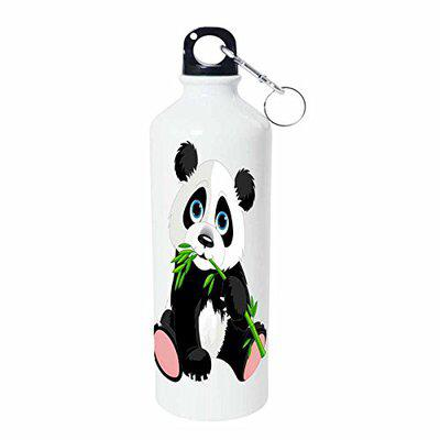 Shopbuzz Yellow Panda Sipper Water Bottle for Office, Gym, School, Travel, | Sipper for Kids & Adults 750ML