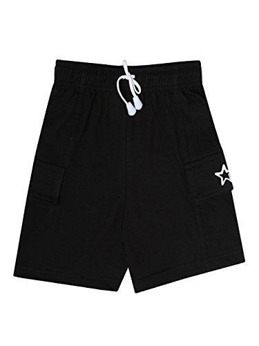 Dollar Champion Kidswear Boy's Shorts (MCBB-131_Black_13-14 Years)
