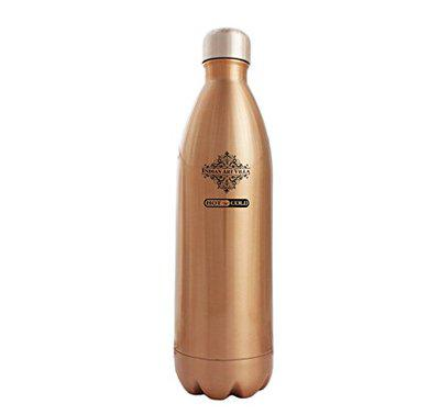 Indian Art Villa Vacuum Insulated Steel Bottle (Golden, 750ml)