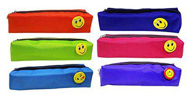 AASA Pencil Pouches for Boy and Girls Stylish, Designer Multi Purpose Pouch, School Stationery Kit, Multicolours, 6 Pcs, 30 Gram, Pack of 1