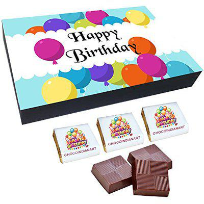 Chocoindianart Happy Birthday Gift Idea 12 Chocolates with Fillings of Roasted Almonds, Fruit & Nuts and Butter Scotch(4 Each*3)