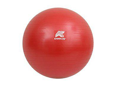 Kamachi Anti-Burst Gym Ball (55 CMS to 95 CMS) with Foot Pump (65-CMS (Red))