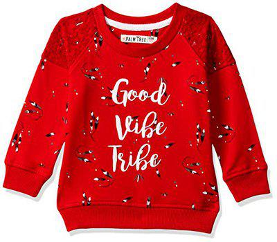 PalmTree Baby Girls' Knitwear (131246510678 C457 Fiery RED(C457) 18M_12-18 Months)