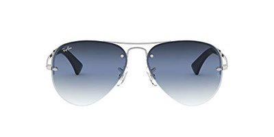 Ray-Ban UV protected Aviator Sunglasses (0RB3449|59.0 mm|Blue)