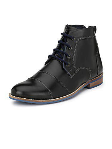 Eego Italy Black Synthetic Men's Formal Boots-10