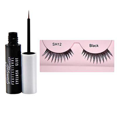 GlamGals Reusable Eye Lashes with Glue Transparent 6.5 ml