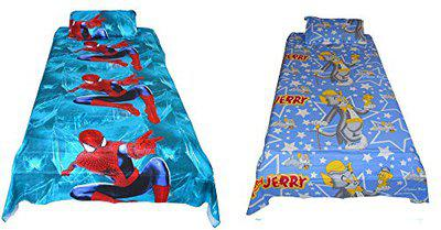 Mahi Fashion Kids Baby Single Bed Sheet with 1 Pillow Cover (Pack of 2)
