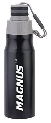 Magnus Streak 600 ML Stainless Steel Fridge Bottles, Black