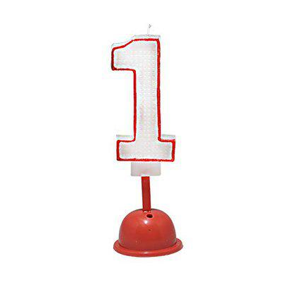 EZ Life LED Number Candle with Light and Sound - Number 1 - Birthday Celebration - Party Supplies - Mix Colors