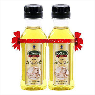 Solasz 100% Spanish Pure Olive Oil 100ml (Pack of 2)