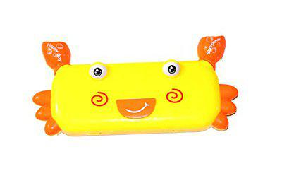 Crab Shape Multipurpose Pencil Box has 2 Compartments with Sharpener attched - Big Size by THE VIYU BOX (Color May Vary)