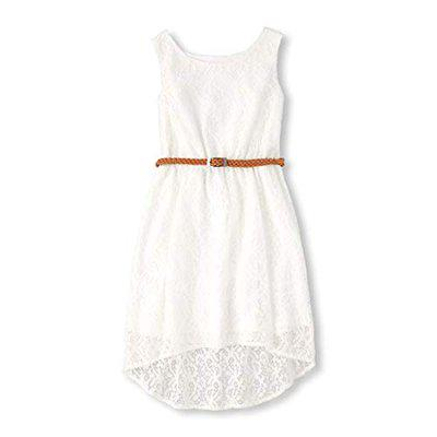 The Children's Place Synthetic a-line Dress (22693811128_Simplywht_X-Large/14)