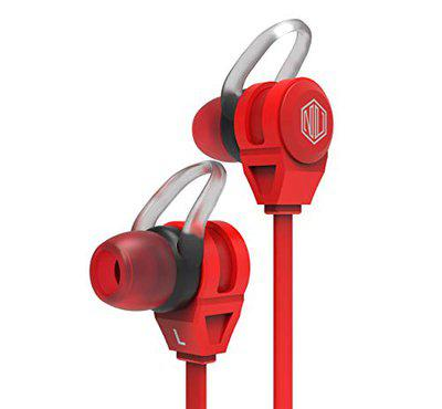 Nu Republic Jaxx M Wired Earphone with Ultra Bass (Metal Red)