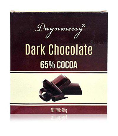 Daynmerry Dark Chocolate 65% Cocoa, 40 Grams (Pack of 8)