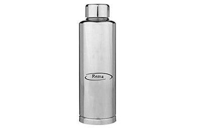 Rema - Stainless Steel Single Wall Fridge Water Bottles - 1000ml - 1 Litre (Single) (Made in India)