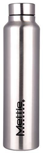 METTLE 18/8 Steel Water Bottle - Plain, 1 Liter, Silver