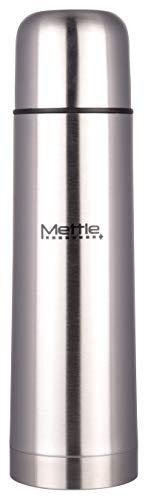 METTLE 18/8 Steel Vacuum Water Bottle - Mettle, 1 Liter, Silver