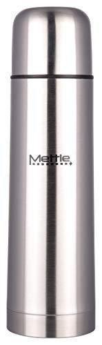 METTLE 18/8 Steel Vacuum Water Bottle - Mettle, 0.75 Liters, Silver