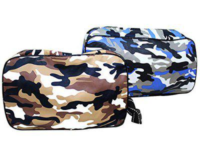 TIED RIBBONS Toiletry Shaving Kit Pouch for Men Travel Portable Organizer (24 cm X 16 cm, Multicolor)