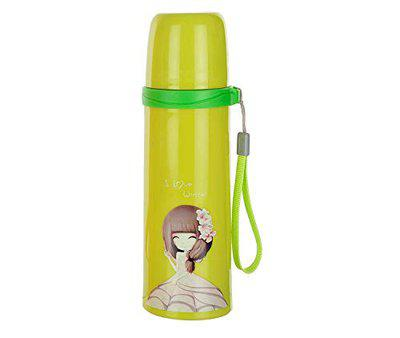 IRIS Hydration Colorful Stainless Steel Eco-Friendly & BPA Free 250 ml Water Bottle - Keeps Hot or Cold - Bright and Cute Design - Fits in Purse or Yoga Bag (Green)