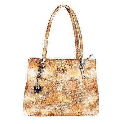 Butterflies Women Handbag (mustard) (bns 0703msd)