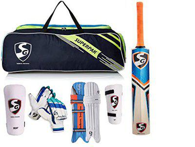 SG Full Cricket Kit with Ezeepak Bag (Without Helmet) (Full Size Ideal for Age Above 14 Year.)