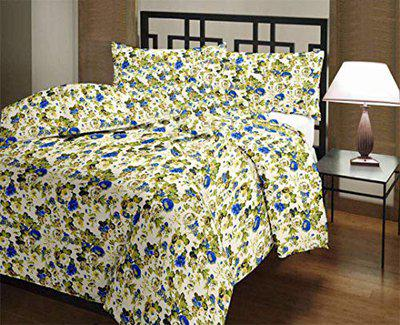 GINI HOME Floral Printed Reversible Poly Cotton Double Bed AC Dohar/Comfort/Blanket/Quilt (Multicolor, Size-90 Inch X 84 Inch)