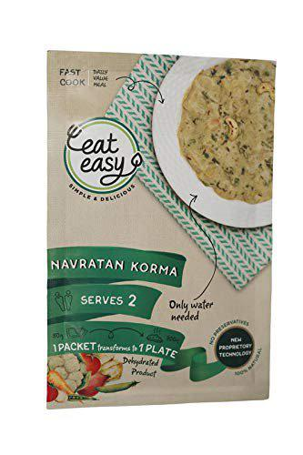 Eat Easy Ready to Cook Instant Gravy, Navratan Korma, Pack of 5 (Makes Approx 370 GMS Each)