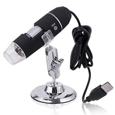 Microware Portable USB Microscope 1000X 8 LED 2MP Digital Microscope Magnifier Camera with Stand Holder