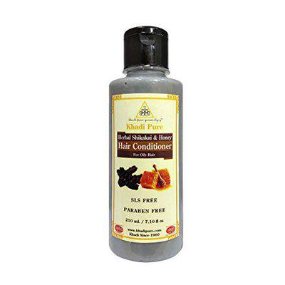Khadi Pure Herbal Shikakai & Honey Hair Conditioner SLS-Paraben Free - 210ml