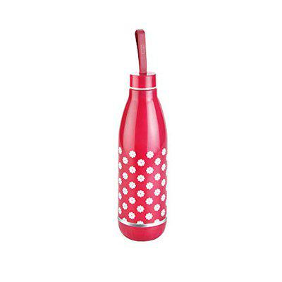 Jayco Blue World Deluxe 800ml Hot and Cold Insulated Bottle, Red