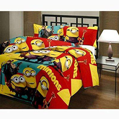 GINI HOME Minions Cartoon Printed Reversible Poly Cotton Single Bed AC Dohar/Comfort/Blanket/Quilt (Multicolor, Size-54 Inch X 84 Inch)