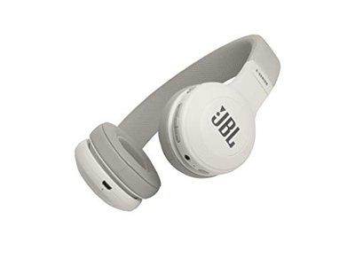 (Renewed) JBL E45BT Wireless On-Ear Headphones with Mic (White)