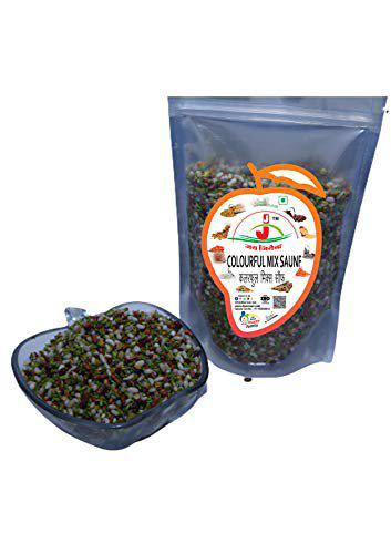 Jai Jinendra Home Made Mukhwas Saunf Color ful/Fennel Mukhwas (Shipping Free) (200 gm)