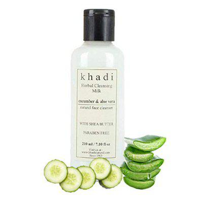 Khadi Herbal Cleansing Milk with Cucumber and Aloevera (210 ml)