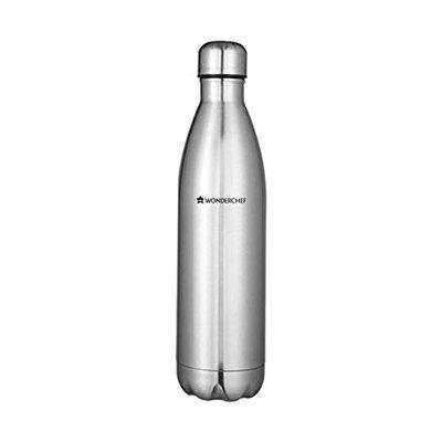 Wonderchef Aqua-Bot Double Wall Stainless Steel Vaccum Insulated Hot and Cold Flask, 500ml
