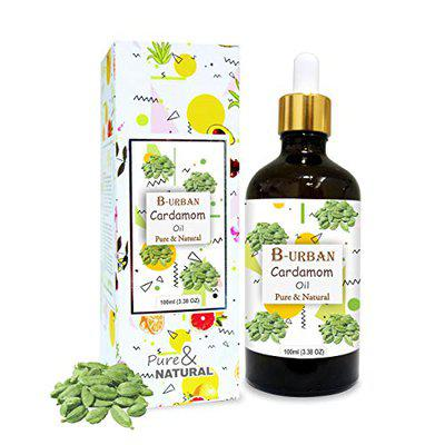 B-URBAN Cardamom Oil 100% Natural Pure Undiluted Uncut Essential Oil 100ml