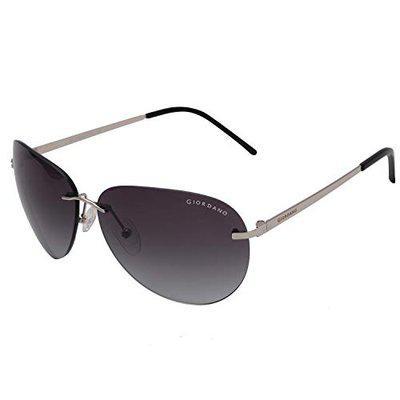 Giordano UV Protected Aviator Men's Sunglasses - (61 | Grey Lens)
