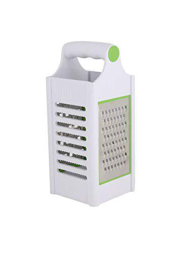 MODERN INNOVATOR Multi-Functional Creative Kitchen Utility Stainless Steel Manual Slicer,Grater,Cheese Slicer, Cutter with Container Box for Making Banana Wafers,French Fries, Grating Vegetables