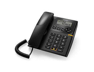 Alcatel T-58 Corded Landline Phone with Caller ID and Speaker with Attractive Design (Black)