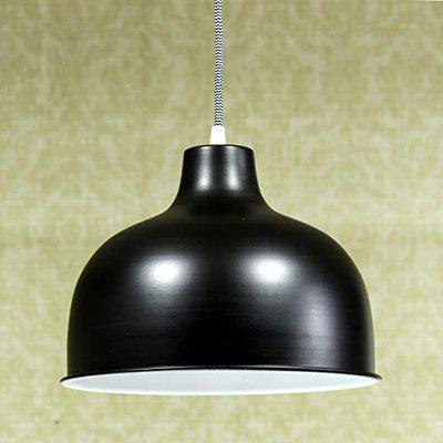 Craftter 60W Ceiling Pendent Hanging Lamp Light, Black, Round