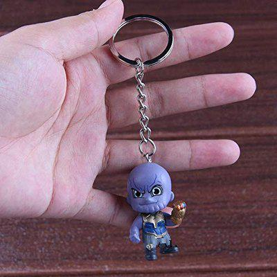 PAPWELL Thanos Keychain 1.8 inch Hot Toys Pendant Action Figure Marvel Legends Figures Avengers Infinity War Avenger Antihero Toy Christmas Collectibles Halloween Collectable Gift Collectible for Kids