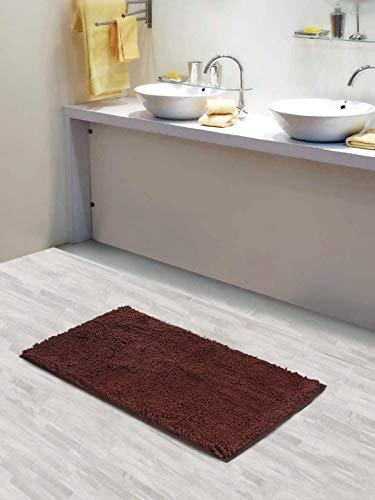 Lushomes Chenille Patridge Anti-Slip 2200 GSM bathmat with High Pile Microfiber with Synthetic Backing, Extra Large (16x 24, 40 x 60 cms, Single Pc)