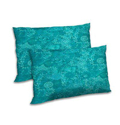 RADANYA Floral Printed Polyester Pillow Cover Set Home Decoration Rectangular Throw Case - Teal Green,12x18 Inch