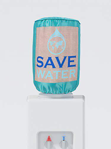 Swayam Save Water Digitally Printed Water Bottle Cover- Green, Polyster