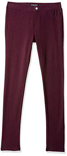 Tommy Hilfiger Girl's Regular fit Trousers (P8ACN15514_Grape Wine_14)