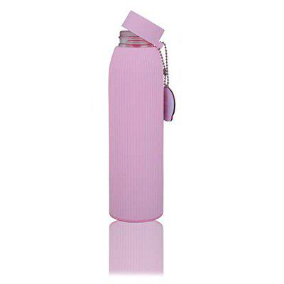 Crya Stripe Hype Sipper Glass School Water Bottle-Pink