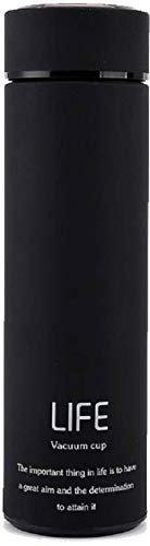 Not Available BPA-Free Thermos Double Wall Vacuum Insulated Stainless Steel Water Bottle Travel 500 ml - Hot and Cold 12 Hours, Mysterious Black