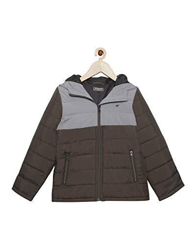 t-base Boys Olive Solid Padded Jacket