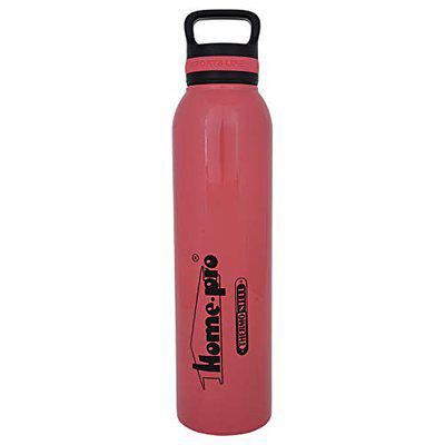 Home-Pro Stainless Steel Vacuum Insulated Sports Life Bottle, Pink, 850 ML